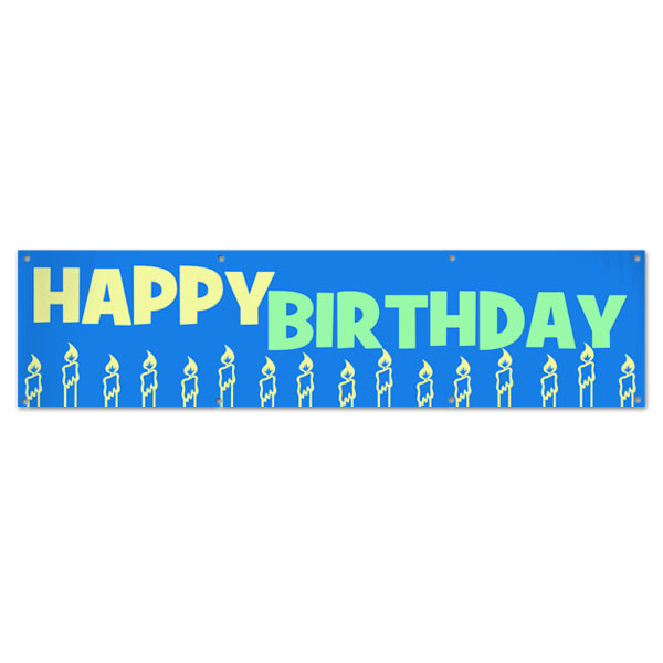 Decorate for your Birthday party and event with a Happy Birthday Banner size 8x2