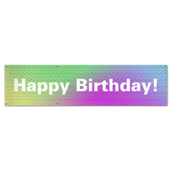 Plan for your Birthday Party with a bright and colorful fun Birthday Banner with Grommets size 8x2