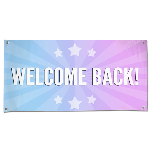 celebrate the arrival of someone you care about with a welcome back banner perfect for parties