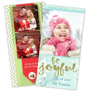 Send your own photos on a beautiful 4x8 holiday greeting card from the Print Shop