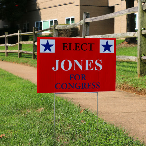 Create your own election lawn signs with Print Shop