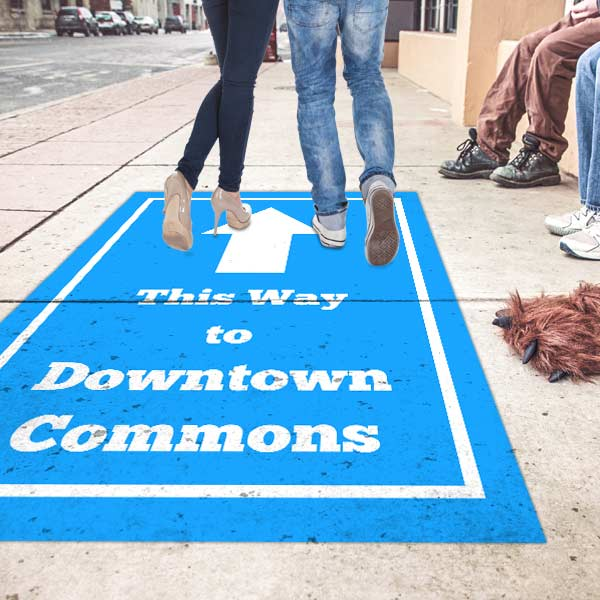 Create custom outdoor graphics for sidewalks, streets and walkways