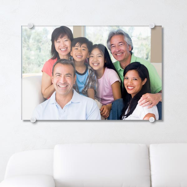 Print your photo on modern acrylic with a clear glossy surface