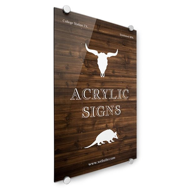 Create your own sign with Print Shop acrylic signs and prints