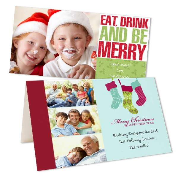 Share your photos and greetings with custom Christmas cards from Photobucket Print Shop
