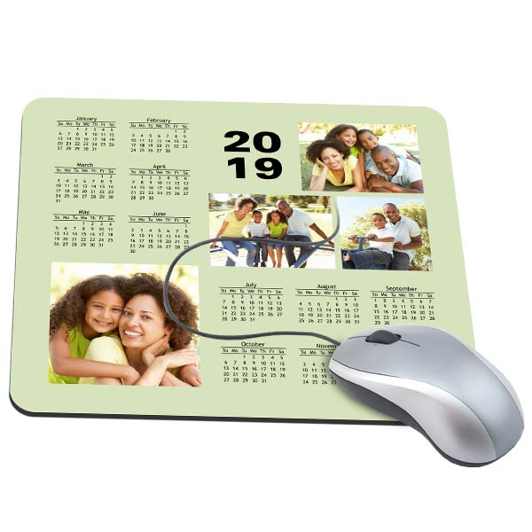 Keep up with your schedule in style by designing your own calendar photo mouse pad!