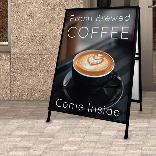 Gain new customers with an outdoor sidewalk sign for your shop, market anything