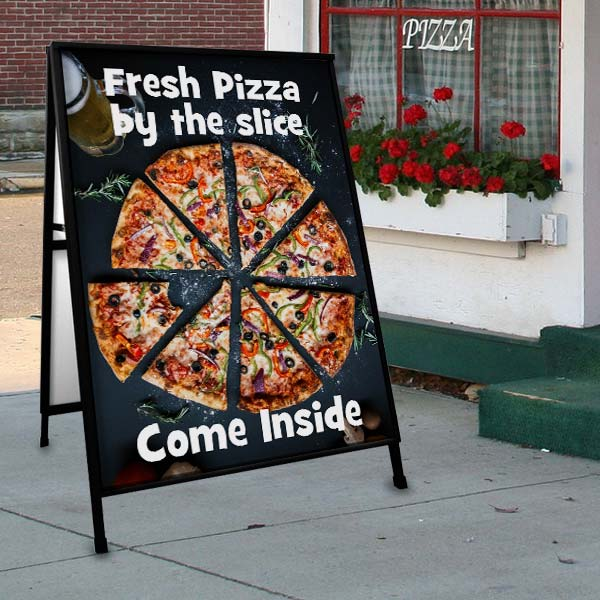 Customize your own advertising sign for your sidewalk to gain new foot traffic to your store