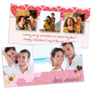 Customize your own Valentines Day Card with Print Shop photo cards