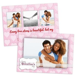 Create personalized 2 sided valentines cards for your partner