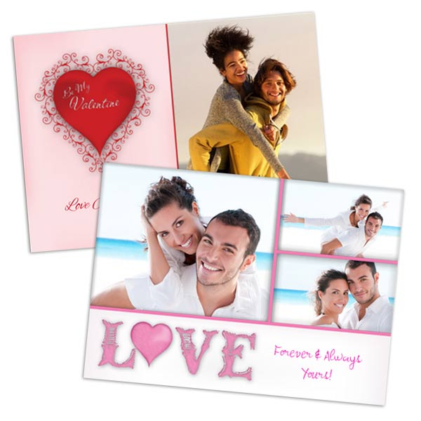 Create glossy Valentines cards with pictures for your special someone