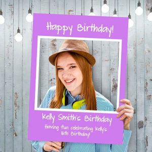Get your party trending with custom social media selfie frames for your guests