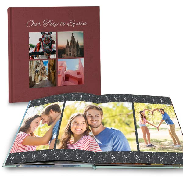 Customize your own lay flat photo book with full spread pages