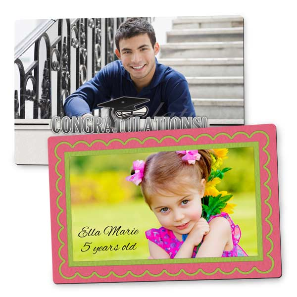 Create a custom photo magnet for your refrigerator or office file cabinet