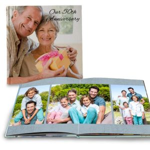 Create the perfect gift for your anniversary or family reunion with ultra lay flat books