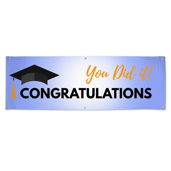 Celebrate your graduation in style with a graduation party banner