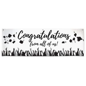 Add signatures to your congratulations banner designed for graduation