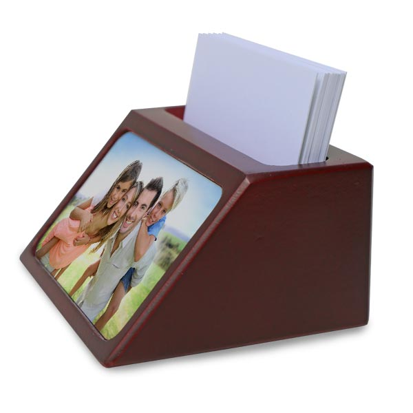 Store your business cards in style with a rosewood business card holder