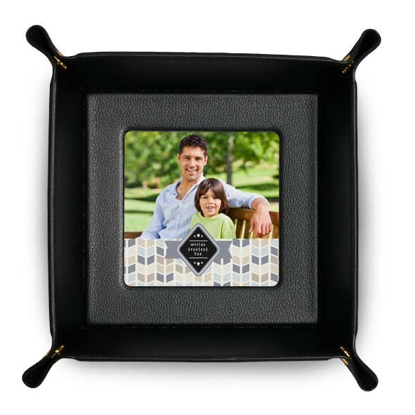 Snap together Valet tray for your entryway or office desk, makes a great gift for dad