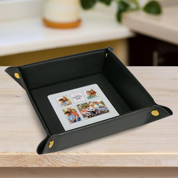 Store your keys and change in a custom photo valet tray
