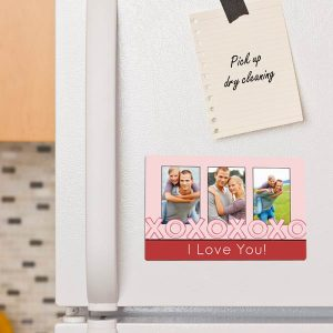 Add your photos to a magnet and brighten up your fridge