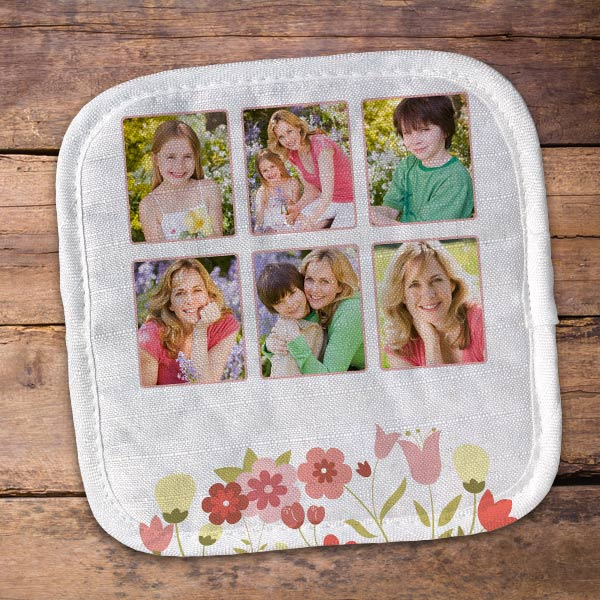 Create a custom pot holder for mom, makes the perfect gift she will treasure and use