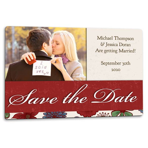 Create a custom magnet to announce your big day, perfect for save the date
