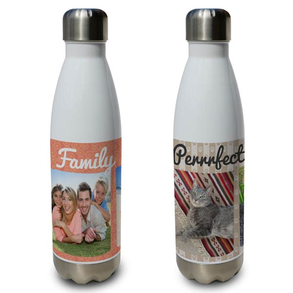Personalize your own water bottle with the print shop stainless steel water bottles