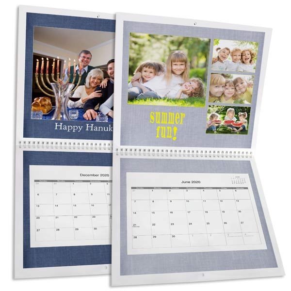 Create a large 12x12 wall calendar for your home and keep track of your dates