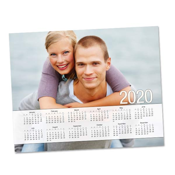 Create a photo collage calendar for your binder or locker, printed on one 8x10 sheet