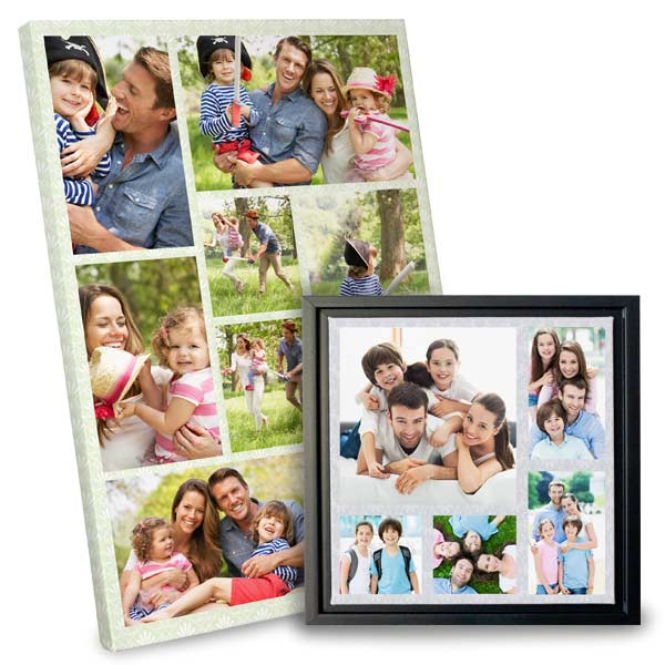 Framed collage canvas and wrapped collage canvas for any occasion makes a great gift