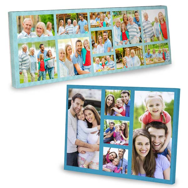 Print shop photo collage canvas prints are available in multiple sizes for your home