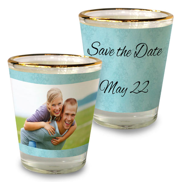 Commemorate the moment for special events with a custom shot glass and party favor