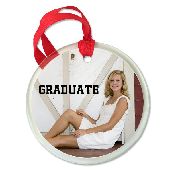Create a custom glass ornament for your graduating senior