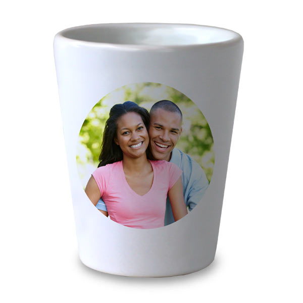 Design your own shot glass with photos and text, choose from many design options