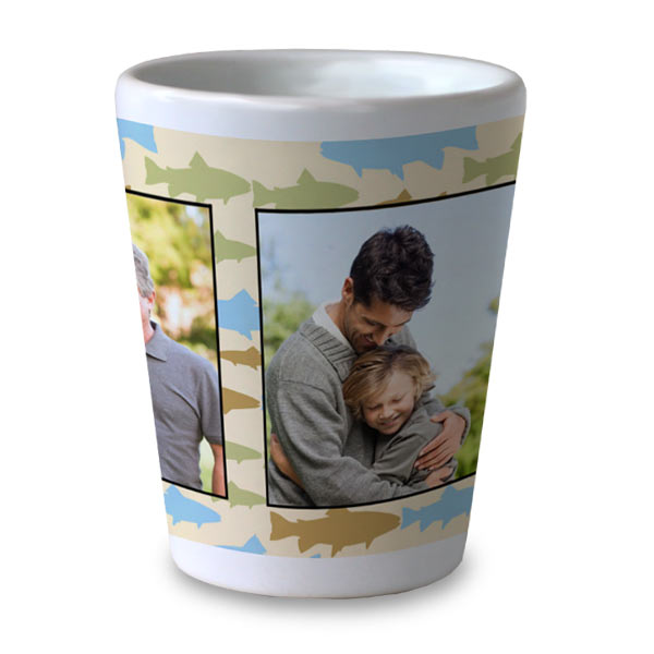 Personalize your own ceramic shot glass for any occasion, makes a great gift