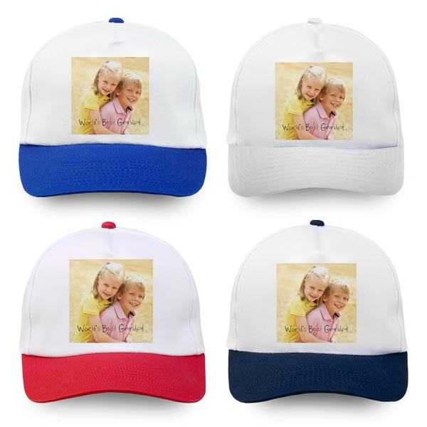 Personalize your own baseball cap available in multiple colors and options