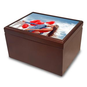 Create a beautiful tile top photo jewelry box for a perfect custom gift