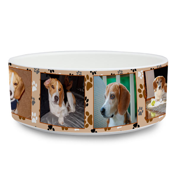 Each pet bowl is made custom by you so your pet will love it