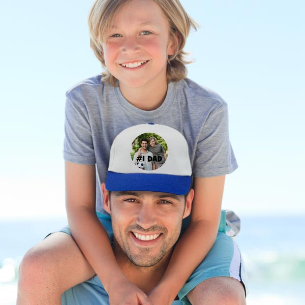 Create a custom gift for dad with a personalized baseball cap