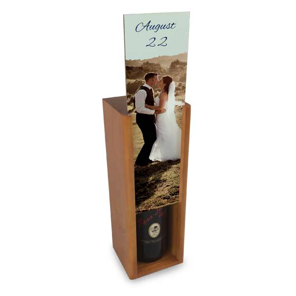 Hide your wine or spirits out of site with a personalized wine storage box for your counter