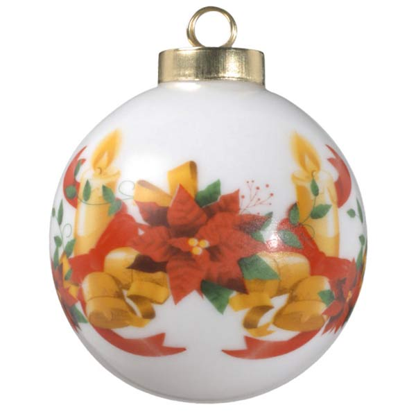 Porcelain ball photo ornaments are great for each year, featuring holiday artwork