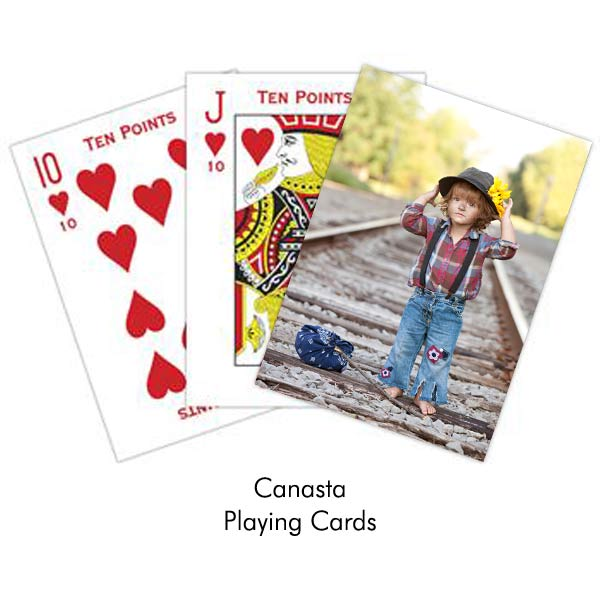 Turn your photo into a deck of Canasta playing cards, create your own deck with a picture