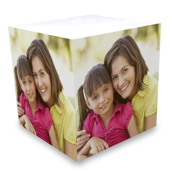 It's easy to create a custom sticky note cube for your desk, it's a useful gift