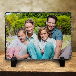 Print your picture on real stone and create a beautiful photo slate to display in your home.
