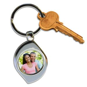 Personalized teardrop or swirl key chains are great for anyone, create your own today