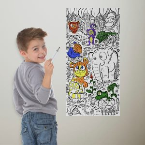 Now your kids can color on the walls with coloring wallpaper, perfect for play rooms and basements!