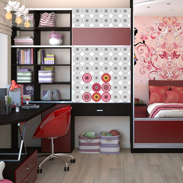Add accent to your room with coloring wallpaper and have fun coloring your space