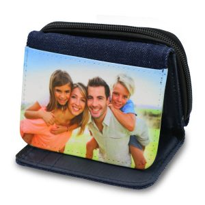 Photo custom denim wallet for kids or women