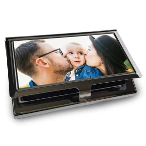 Perfect for any business trip or meeting, a custom business card case will protect your cards
